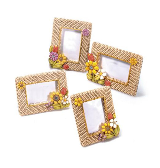 Portafoto con fiori intreccio scatole - Porta foto thun ...