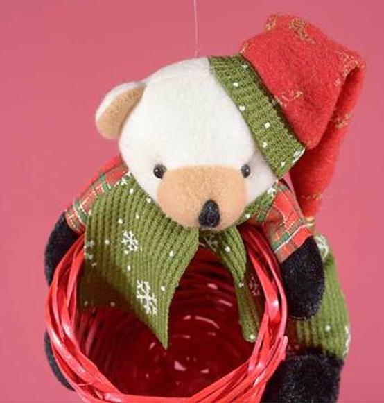 Cestino tondo con peluches natalizio scatole - Cestini porta bomboniere ...