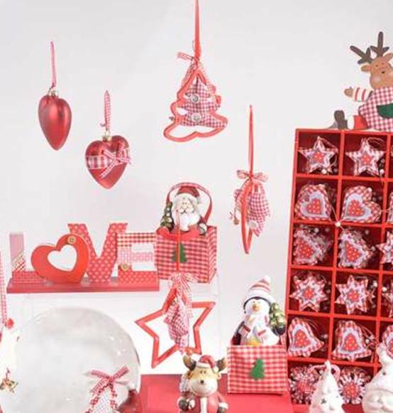 Ben noto Decorazione natalizia in legno e stoffa con bottoni, Scatole  WR93