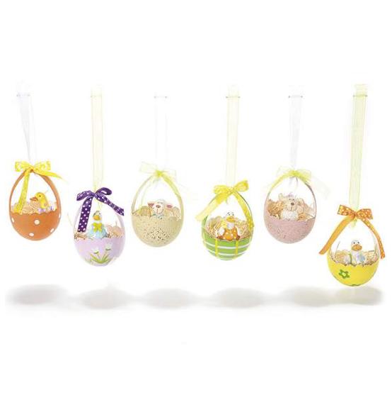 Coniglio a dondolo decorazione pasquale in legno colorato for Decorazioni da appendere