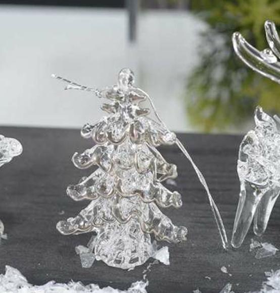 Decorazioni natalizie in vetro da appendere scatole - Decorazioni vetro ...