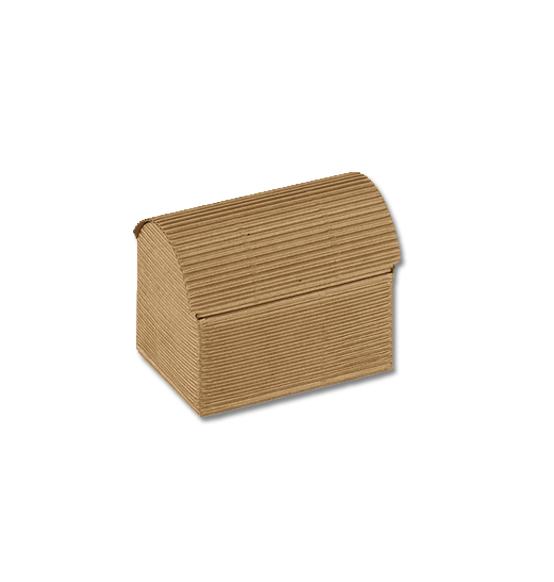Bomboniere Matrimonio Natalizio : Pz scatola cofanetto in cartone ondulato onda avana mm