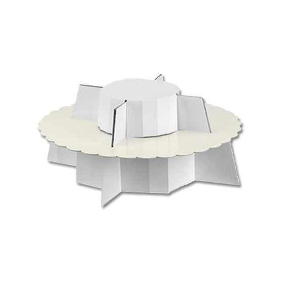 Alzata bianco perlato 1 piano mm. 300x120, Scatole ...