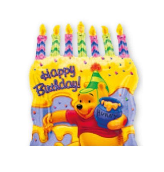 Palloncino Buon Compleanno Winnie The Pooh Cm 48x58 Scatole