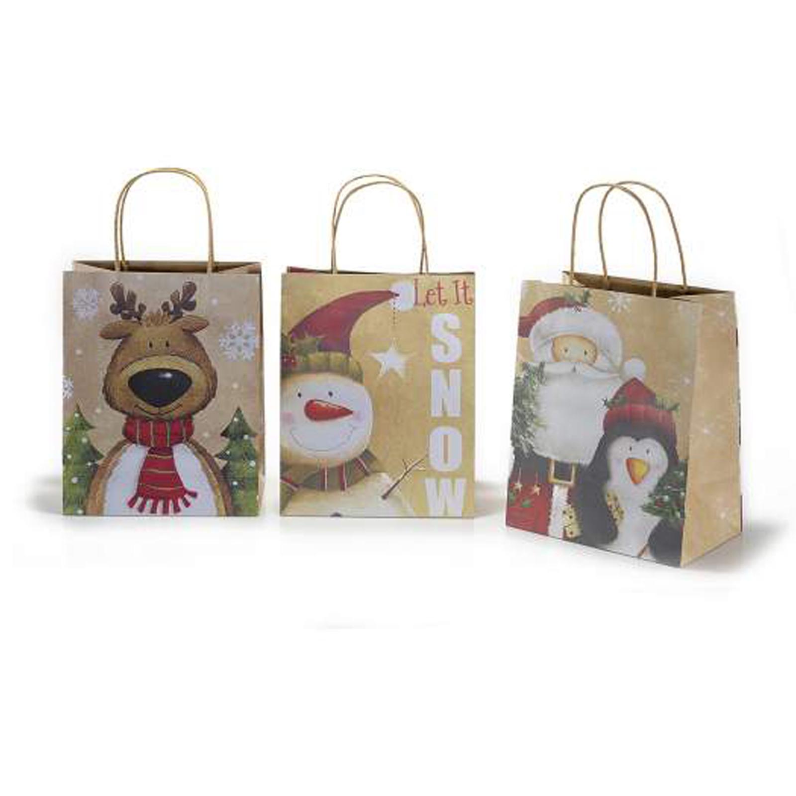 30Pz.Buste sacchetti regalo natalizi in carta naturale Misure: cm