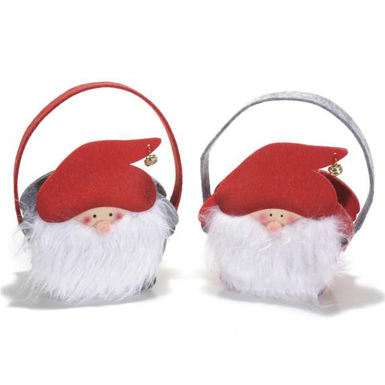 4pz borsette natalizie in panno con decorazioni di natale - Cartone animato natale agrifoglio di natale ...