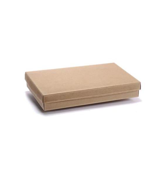10pz scatola in cartone fondo coperchio onda avana mm - Scatole ikea trasparenti ...