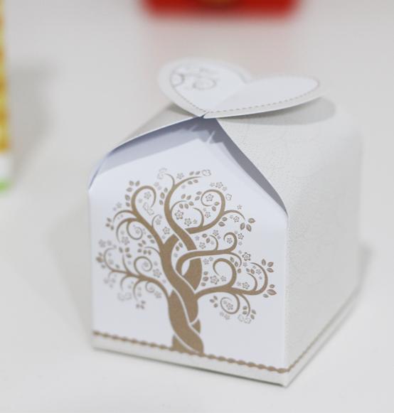 Scatole Bomboniere Matrimonio.10pz Ab Scatolina Portaconfetti Nozze Albero Della Vita