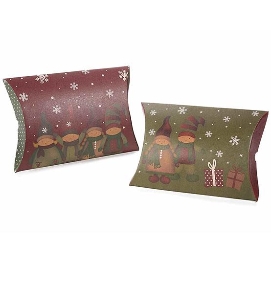 Estremamente 50Pz Scatola natalizia a cuscino per confezioni regalo cm 28 x 5 x  XZ68