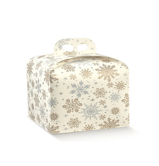 50pz. Scatola portapanettone basso Crystal mm. 245x245x130