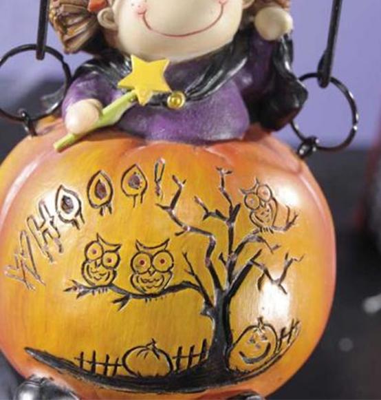 Decorazione halloween bambina con zucca scatole discount for Zucca halloween luminosa