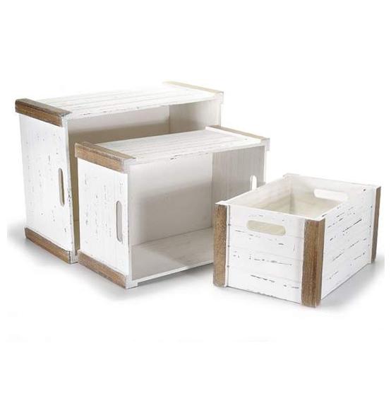 Portabottiglie In Legno Bianco.Cassettine In Legno Portabottiglia E Decorative Scatole Discount It