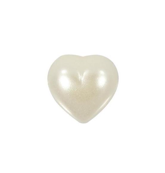 50 PZ Fiore bianco in plastica con perla DECORAZIONE BOMBONIERA